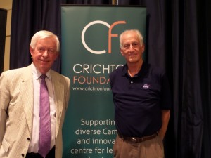 Andrew Walls with Dr Jeffrey Hoffman